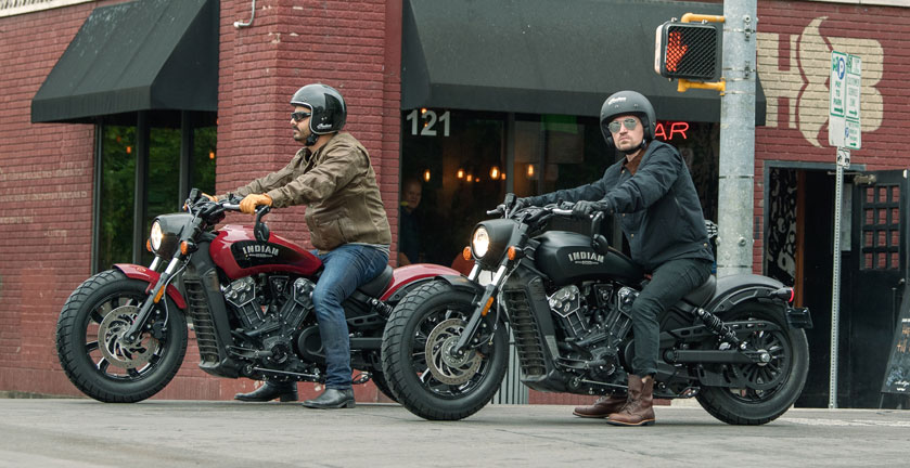 2018 Indian Scout Bobber action 2